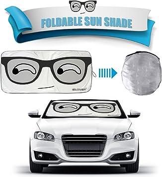Foldable Auto Car SUV Sun Shade Visor Block Front Big Eyes Windshield Snow Cover