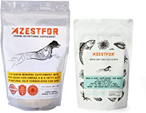Azestfor Homemade Dog Food Vitamin Powder & Skin & Coat Topper