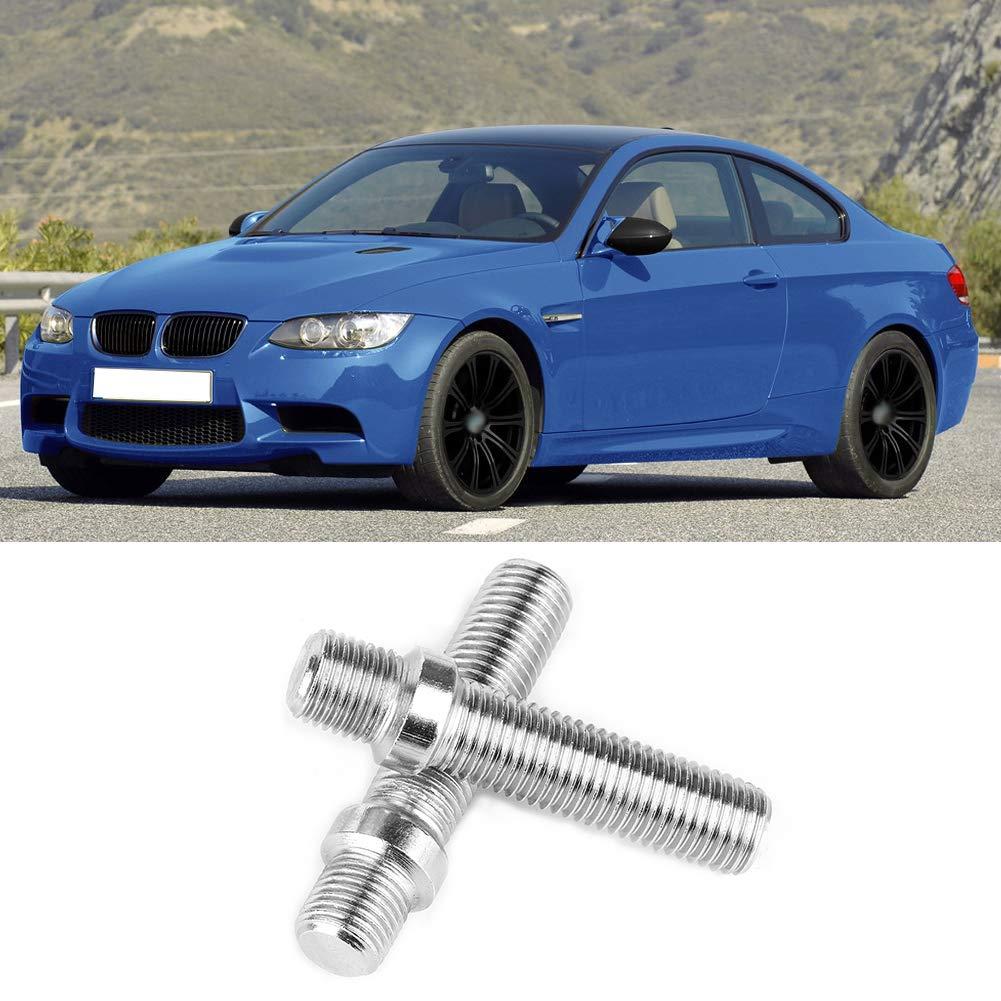1.5 1.5-M12 Gorgeri 20 piezas Perno de ruedas extendido coche 1.5 M12*1.5-M12*1.5 Adaptador de tornillo de ruedas M12 1.25-M12 M12