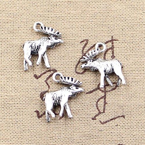 - 20pcs Charms Moose Deer 18x16mm Antique Making Vintage Tibetan Silver Zinc Alloy Pendant