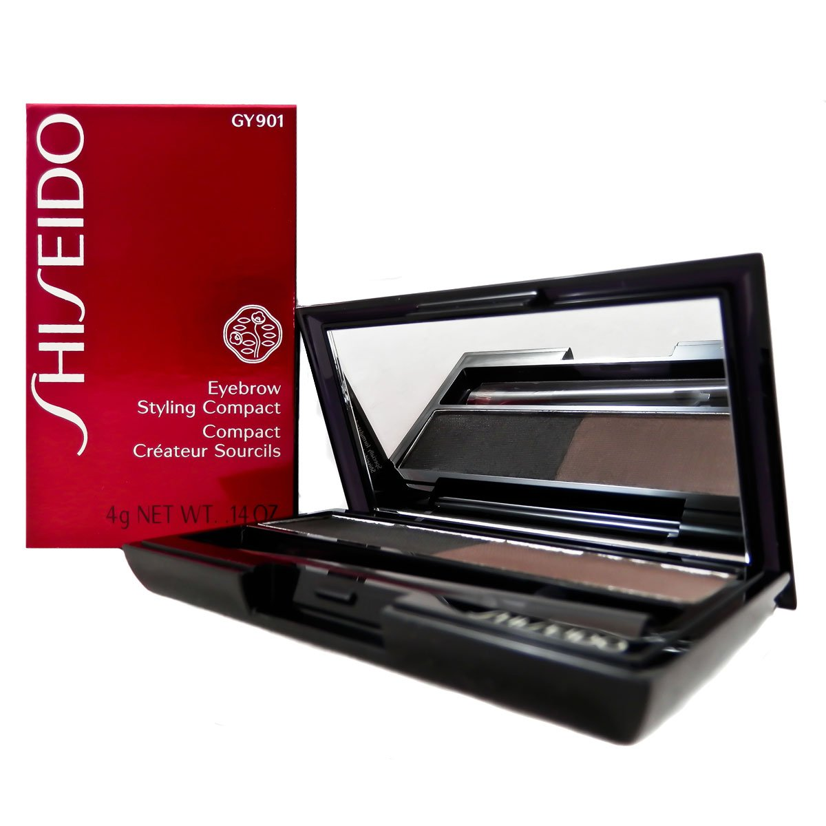 Shiseido Eyebrow Styling Compact for Women, No. GY901 Deep Brown, 0.14 oz by Shiseido