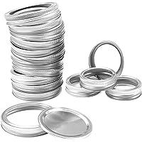 Mason Jar Replacement Rings or Tops, Regular Mouth Split-type Canning Lids Food Grade Rust Resistant Metal Bands or…