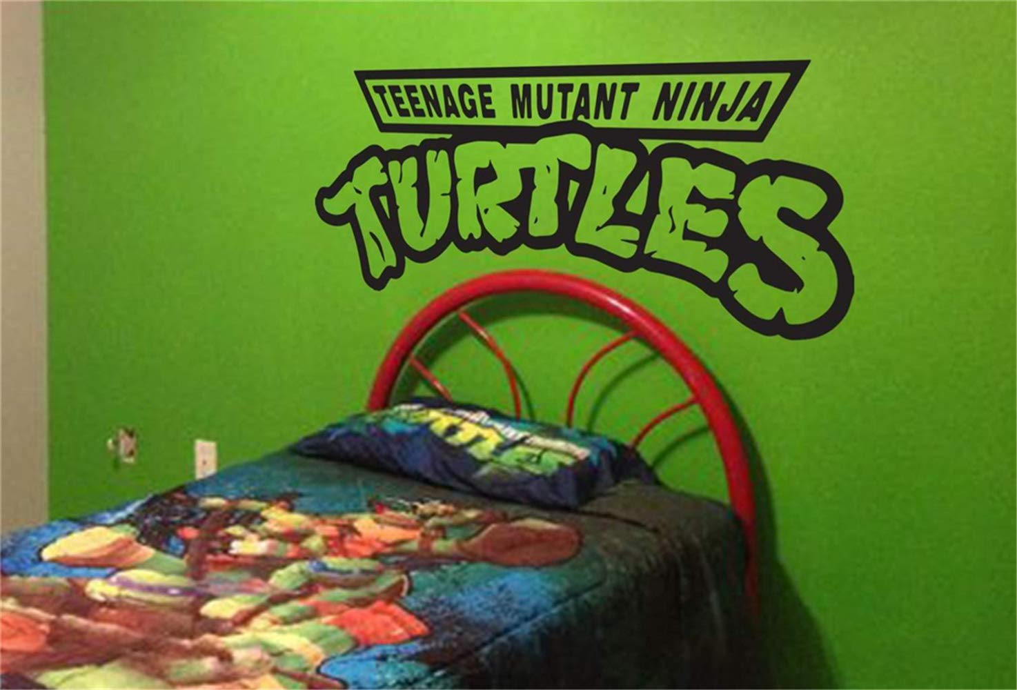 Mikayut Vinyl Wall Decal Quote Stickers Home Decoration Wall Art Mural Teenage Mutant Ninja Turtles for Teen Boys Room