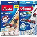 Siluk_ Vileda Ultramax (Siluk_ Vileda Ultramax Microfibre passt zu Ultramat + Vileda Ultarmax Wischbezug extra feucht passt zu Ultramat)