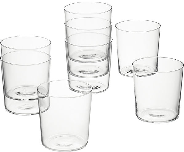 set of 8 marta double old-fashioned glasses | CB2