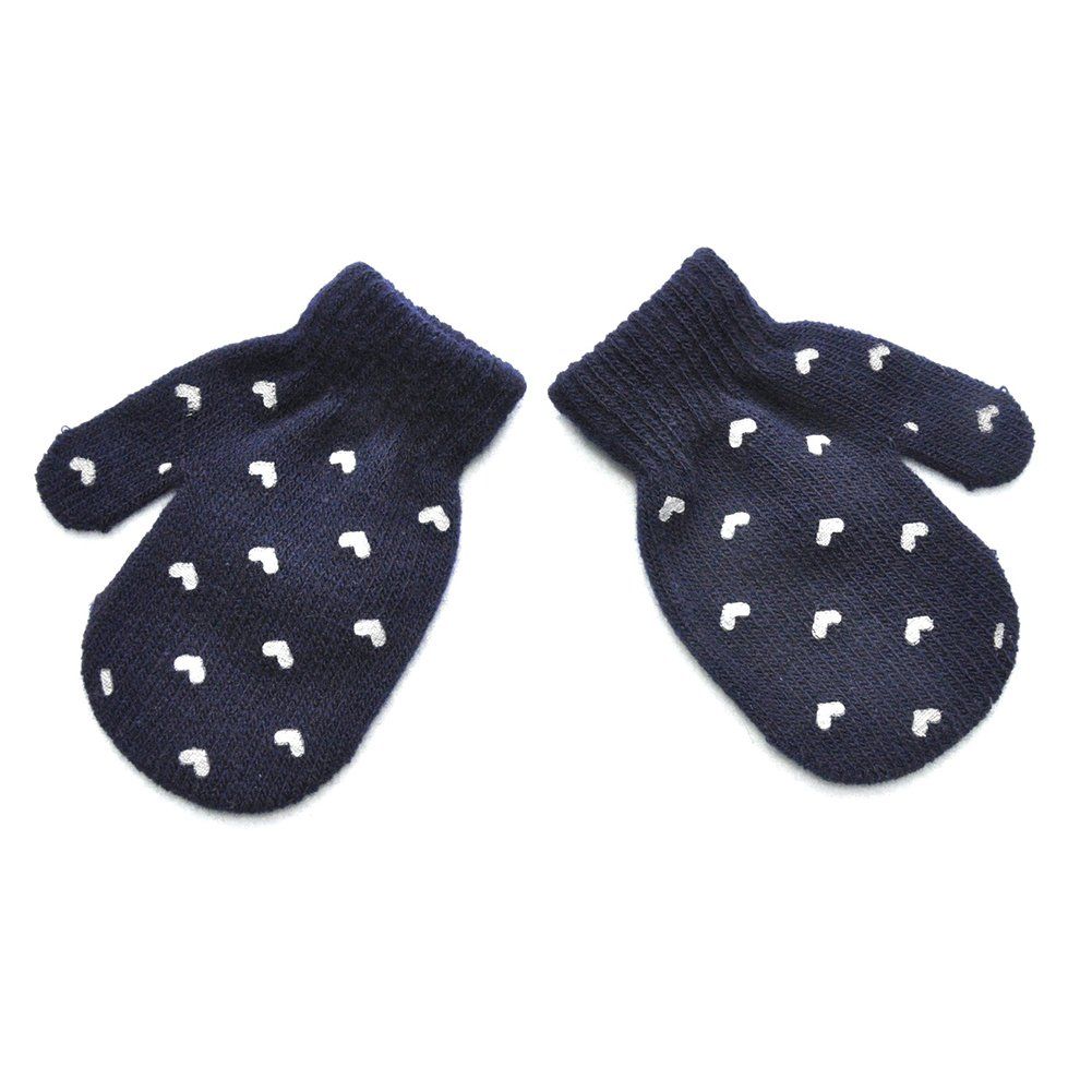 Pu Ran Baby Kid Fashion Star Heart Pattern Gloves Boys Girls Winter Warm Knitted Mitten