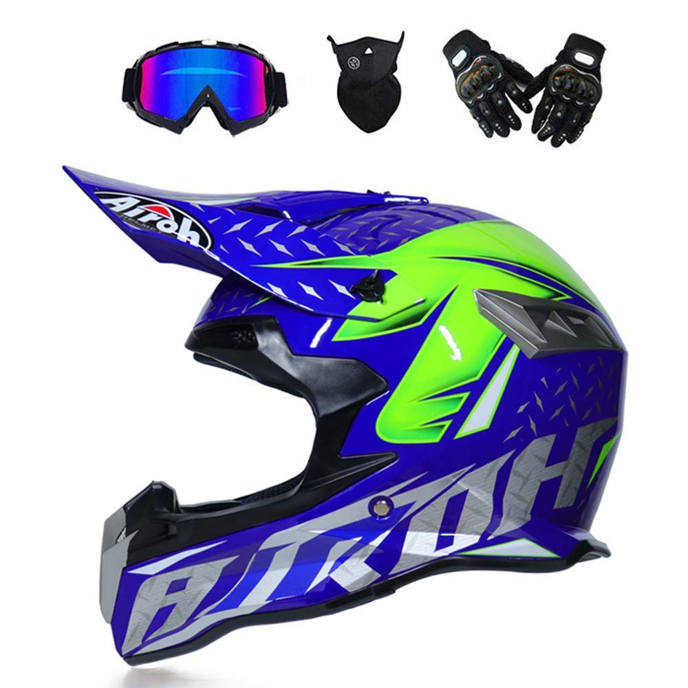 M-TK Adulte Motocross Casque Off Road Moto Casque VTT Cross Dot Cascos Moto Crossbike Enduro Sport Avec gants Masque de Temperatura y lunetas 6 Estilo