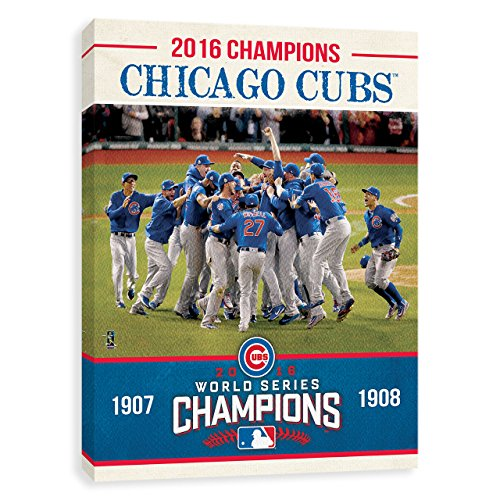 Chicago Cubs 2016 World Champions Team Photo Printed Canvas 16W x 20H x 1.25D