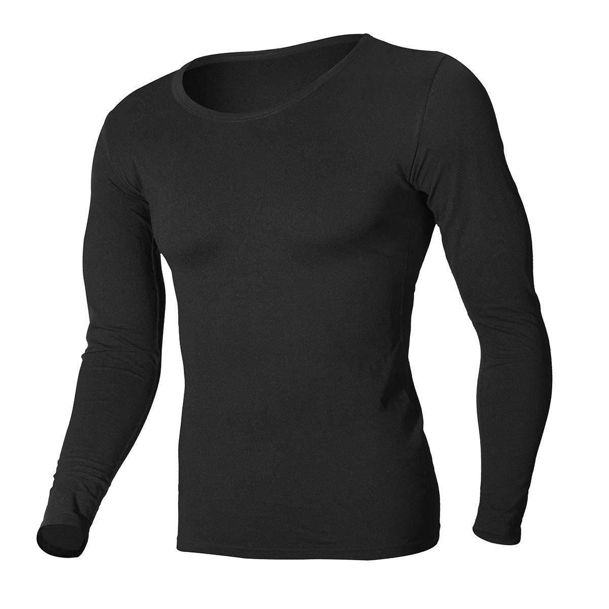 Mens Light Weight Thermal Underwear Ultra Soft Baselayer Long Johns Set Winter Warm Top /& Bottom