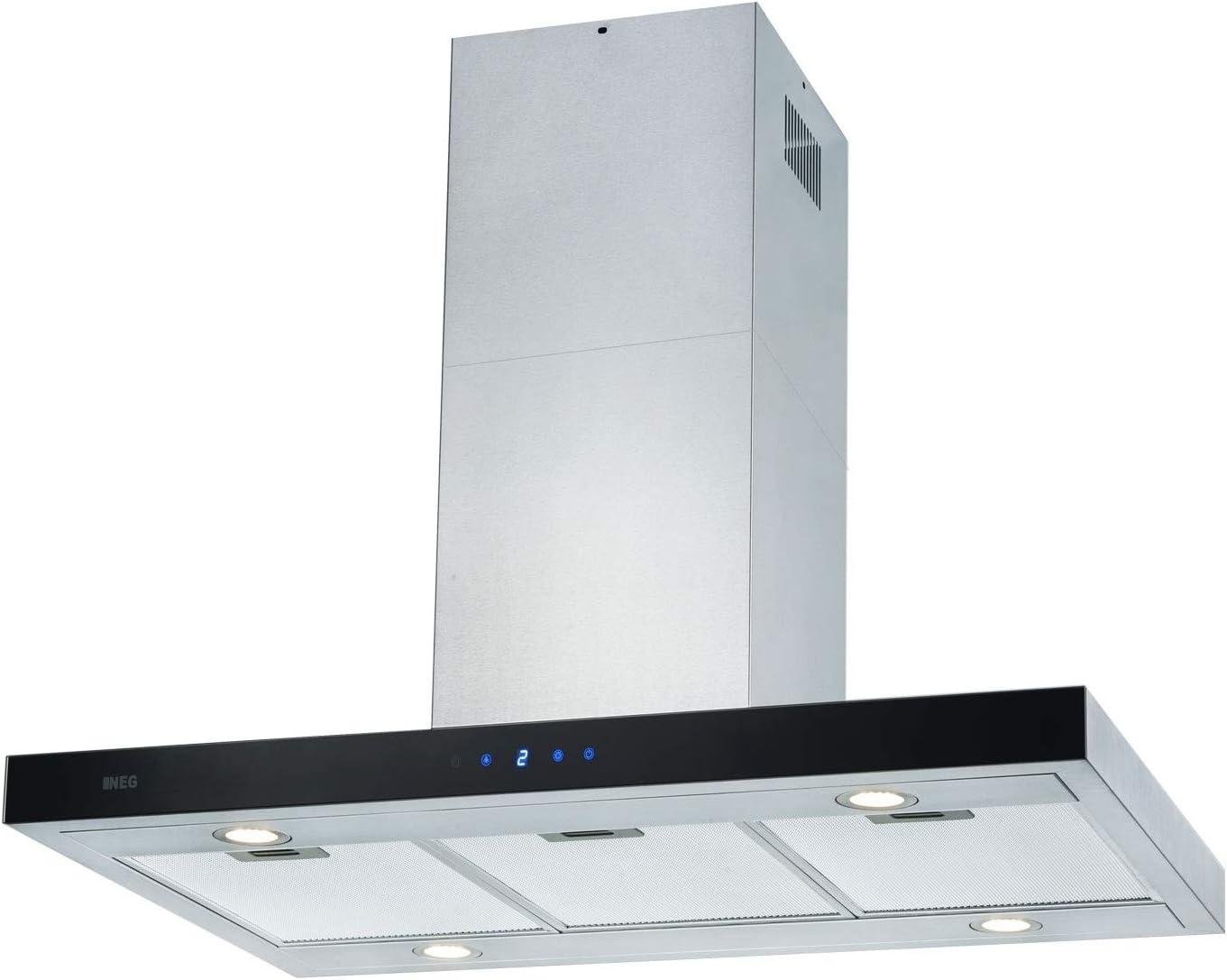 NEG NEG36-AT - Campana extractora (90 cm, acero inoxidable, con iluminación LED y función de retorno): Amazon.es: Grandes electrodomésticos