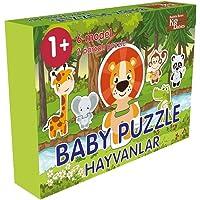 BABY PUZZLE Bebek Çocuk Yap Boz Hayvanları Öğreniyorum 2 Parçalı 6 Model 12Ay+