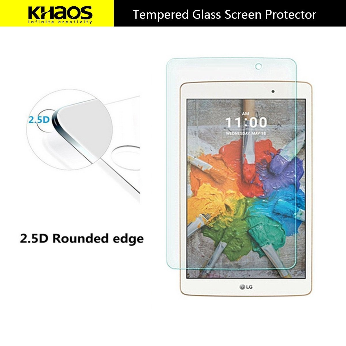 KHAOS For LG G Pad 2 10.1-inch V940 Premium Tempered Glass Screen Protector