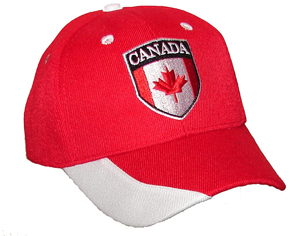 PAM GM Little Boys Canada Soccer Caps for Toddlers Red 2-7 Years 9644Canada