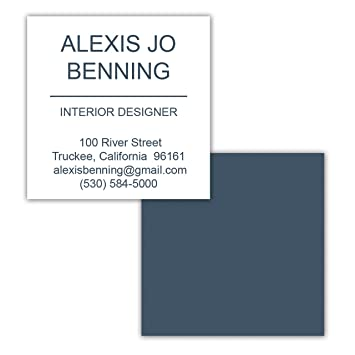 Amazon basic 2x2 square personalized business cards 250 full basic 2x2 square personalized business cards 250 full color design on front and back reheart Gallery