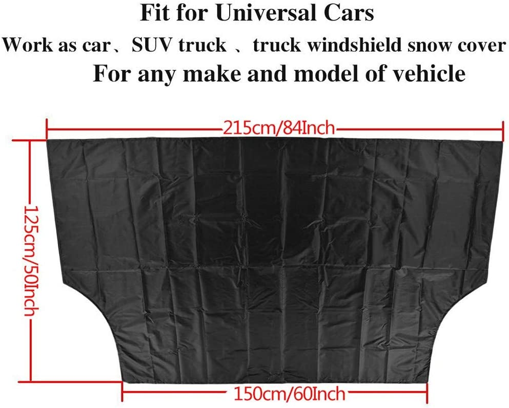 Ice Defense No Scratches Cotton Thicker Winter Covers Fits for Most Cars XGao Car Windshield Snow Cover,94.5inX58.3in Car Sunshades Waterproof Windshields with Magnetic Edges Snow