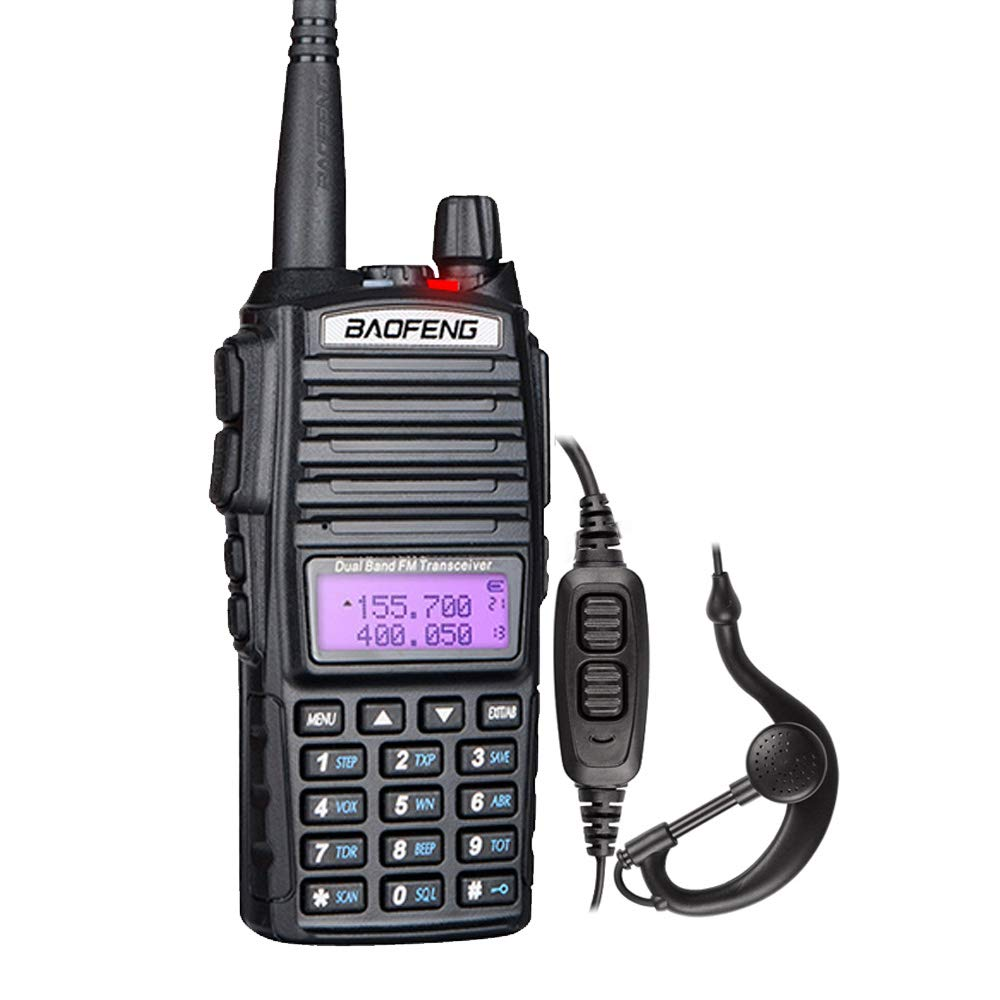 BaoFeng UV-82L Dual Band VHF UHF Amateur Ham Two Way Radio with Dual PTT Black