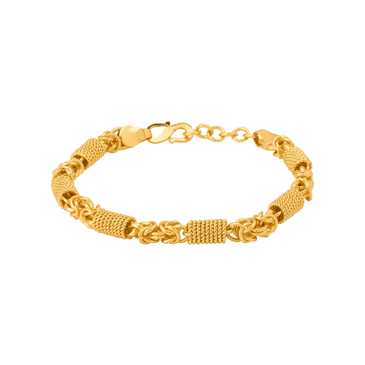 0f3dfd4a9e183 Dare by Voylla Linking Laureate Men's Brass Bracelet with Yellow ...