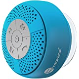 Bluetooth Shower Speaker, TaoTronics Water Resistant Portable Wireless Shower Speaker (Build-in Microphone, Solid Suction Cup, 6hrs Play Time)---Blue