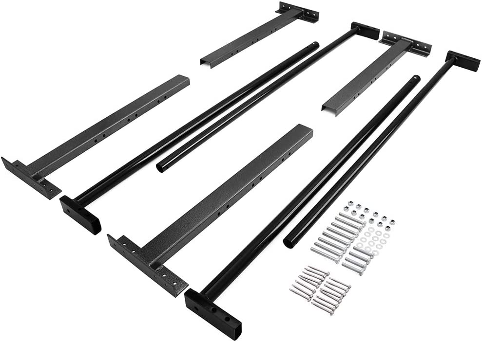 Tiewards Universal Adjustable Aluminum Trailer Ladder Rack Fit for All Enclosed Trailers