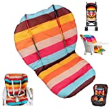 Twoworld Baby Stroller / Car / High Chair Seat Cushion Liner Mat Pad Cover Protector Rainbow Striped Breathable Water Resistant