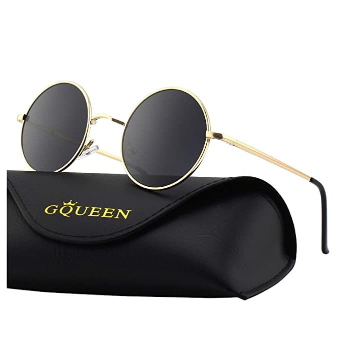 GQUEEN Classic Lennon Ronda gafas de sol polarizadas con protección UV400 MEZ1: Amazon.es: Ropa y accesorios