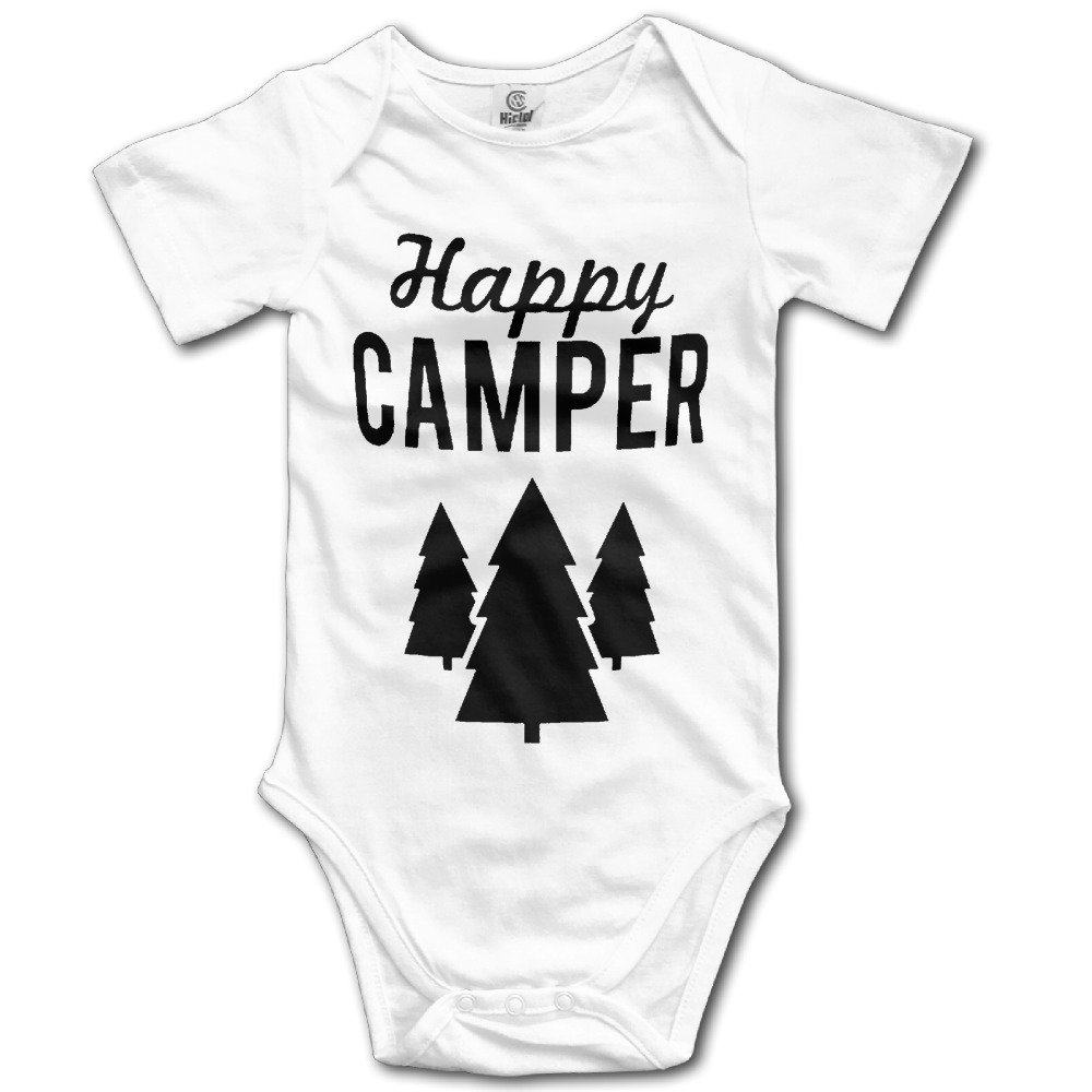 Maggie Duncan Happy Camper Trees Cute Baby Onesie Bodysuit