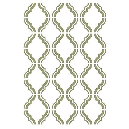 Amazon.com: J BOUTIQUE STENCILS Moroccan Trellis Outline Stencils ...