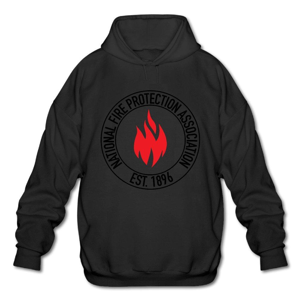 Mens National Fire Protection Association NFPA Established 1896 Long Sleeve Hooded Sweatshirt Medium Black