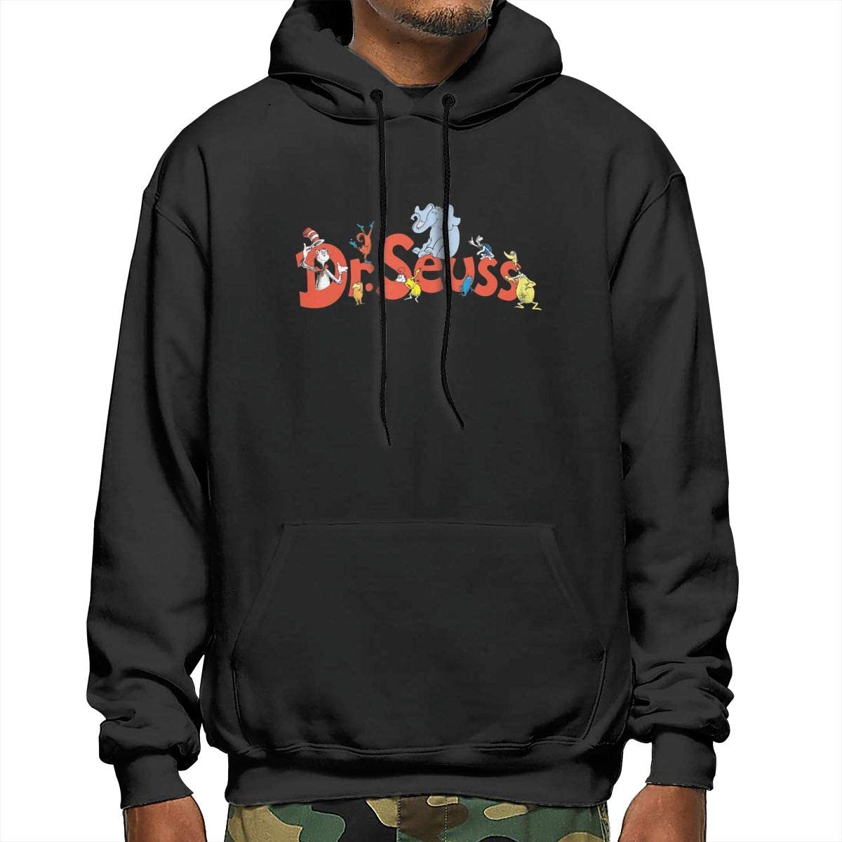 Dr Come and Suess Mens Fashion Athletic Casual Hoodies Long Sleeves Loose Fit Sweatshirt with Kangaroo Pocket