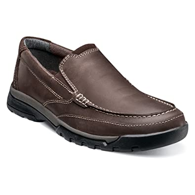 Florsheim Men's Roster Moc Slip-On Brown Crazy Horse Loafer