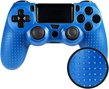 eXtremeRate Funda de Silicona Mando PS4 Carcasa Cubierta Antideslizante Protectora de Piel Funda para Cubrir Accesorios para Mando Playstation 4 PS4 Original Slim Pro(Azul): Amazon.es: Electrónica
