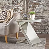 Cheap ADU Mirrored Z Shaped Side Table