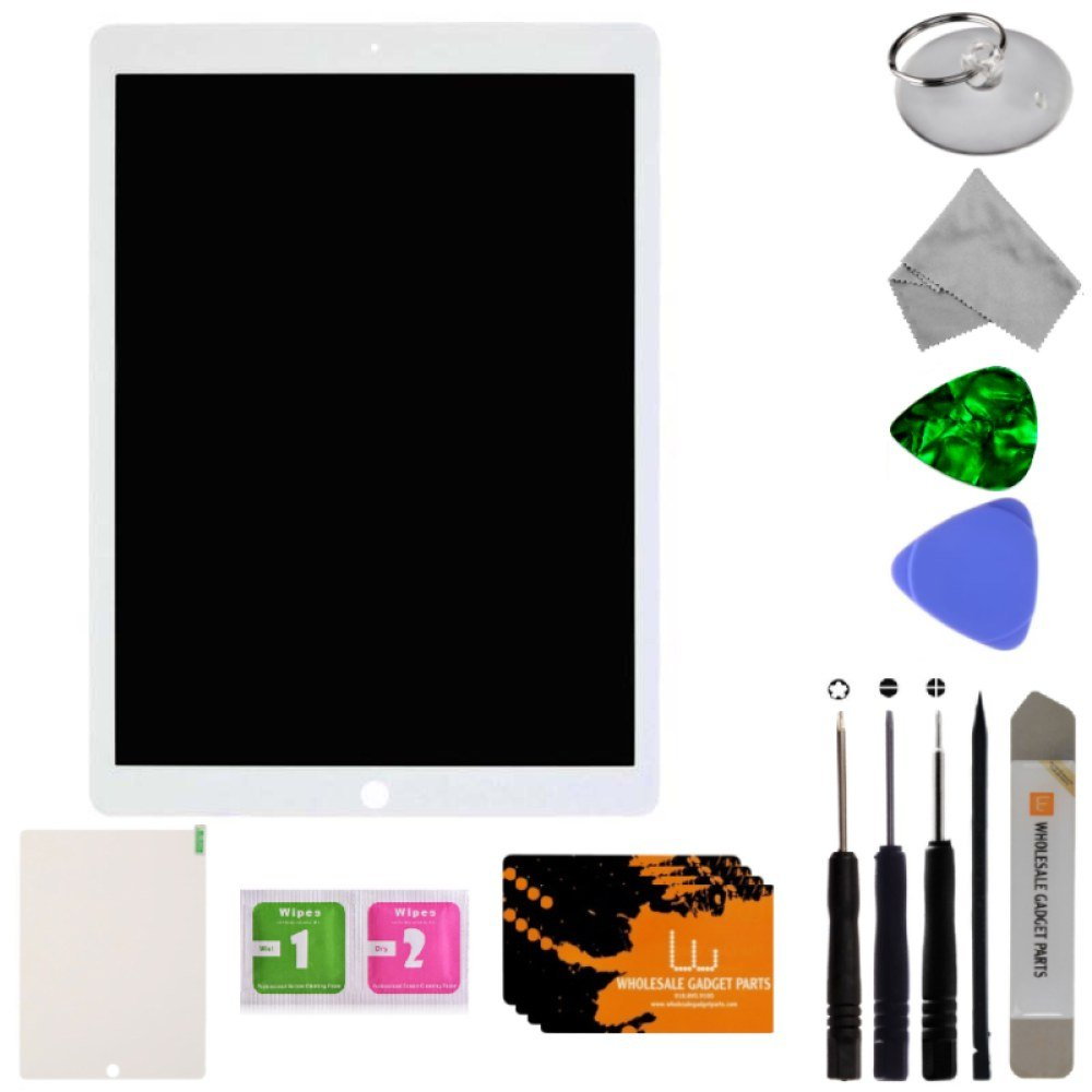 LCD & Digitizer Assembly for Apple iPad Pro 12.9 (2nd Gen.) (White) with Tool Kit