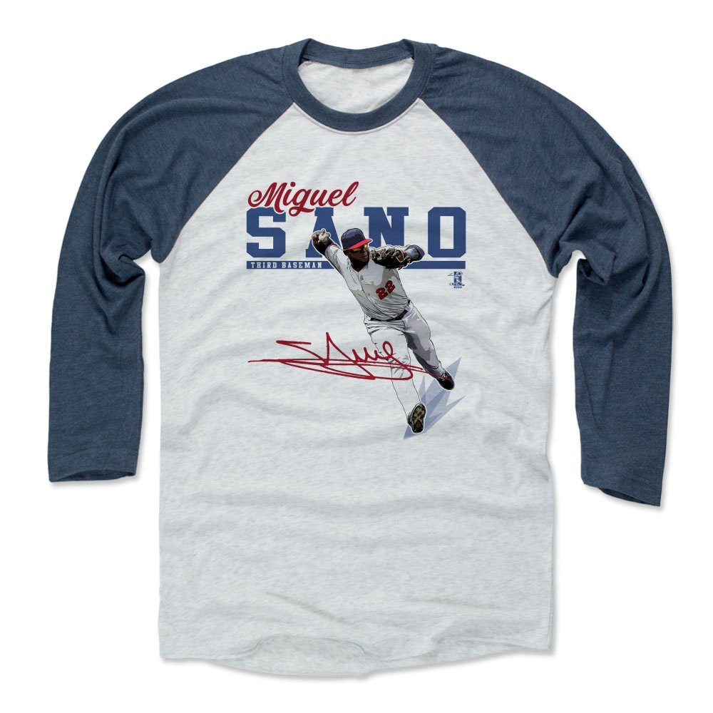 reputable site 15ab3 36ff6 Amazon.com : 500 LEVEL Miguel Sano Baseball Tee Shirt ...
