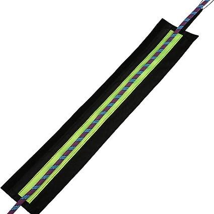 szdc88 Cuerda Protector, Exterior Escalada Cuerda Protector Manga Seguridad Cuerda Protección Funda Cuerda de Paracaídas Protector - Negro, 87cm