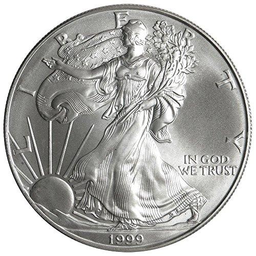 1999 $1 American Silver Eagle 1 oz $1 American Silver Eagle 1 oz. $1 Brilliant Uncirculated US Mint