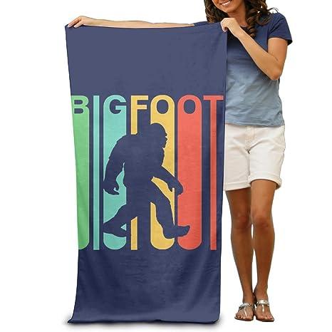 Ongyeyuan Vintage Bigfoot - Toalla de baño unisex personalizada muy absorbente toalla de playa suave