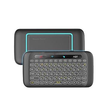Mini Teclado retroiluminado H20 Wireless LED con Pantalla táctil Mousepad para PC, Pad,Android