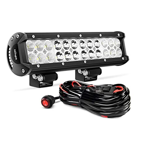 Amazon.com: Nilight ZH007 Led Light Bar 12 Inch 72W Spot Flood Combo on true north radio chest harness, saturn bar harness, rigid industries wiring harness,