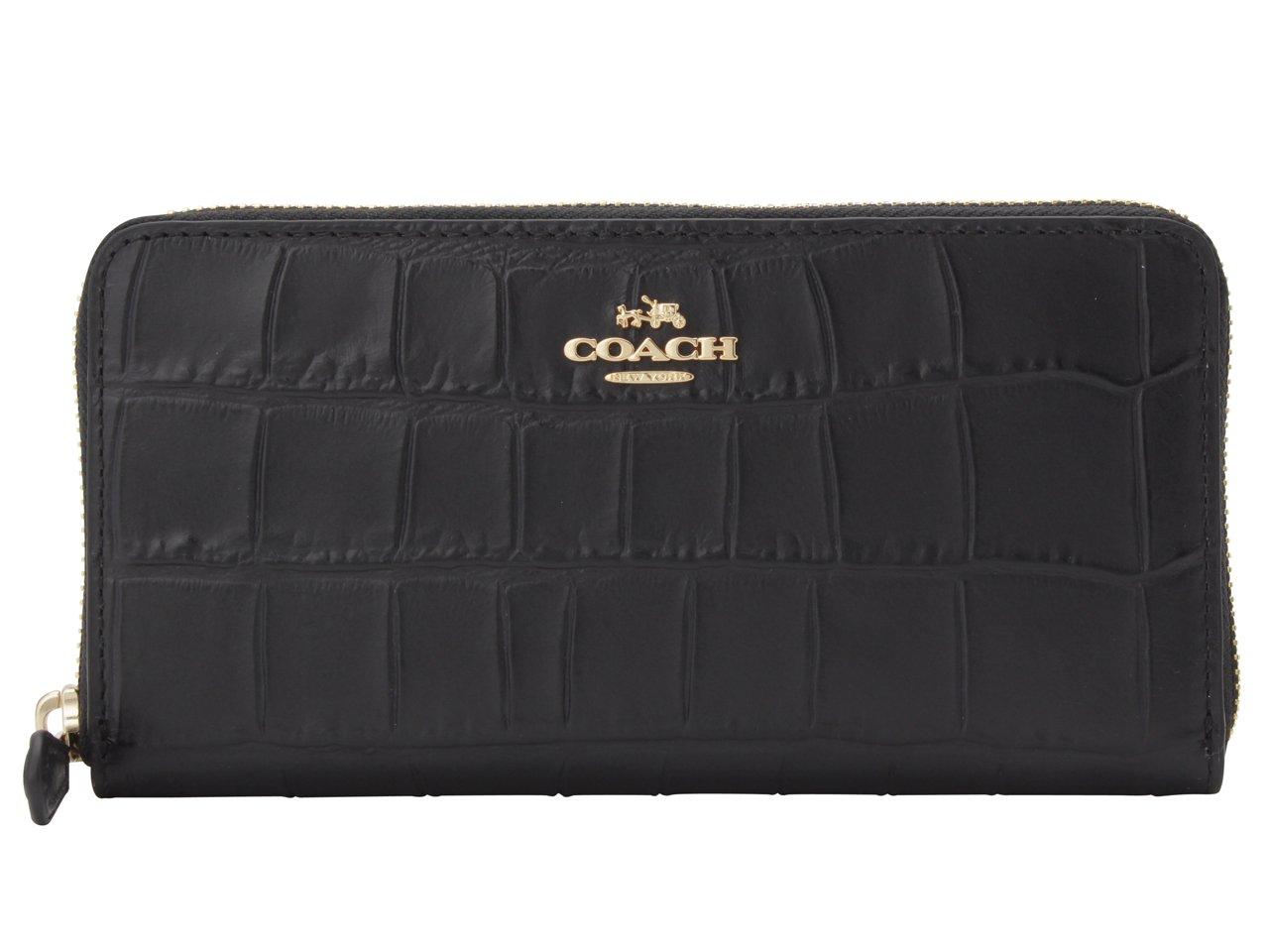 (コーチ) COACH 財布 長財布 ラウンドファスナー F54757 レザー アウトレット [並行輸入品] B078N4RMWN ブラック ブラック