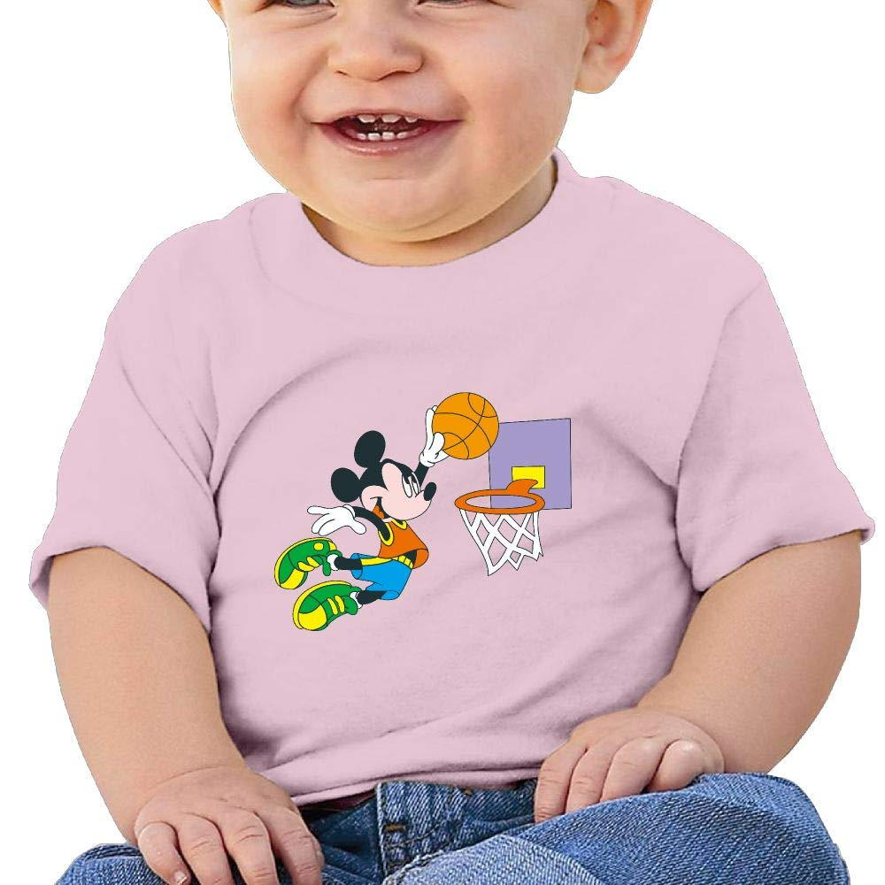 BuecoutesMickey Dunk Toddler//Infant Short Sleeve Cotton T Shirts Pink