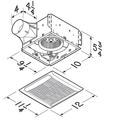 Nutone Aen110 Invent Energy Star Certified Single Speed Ventilation