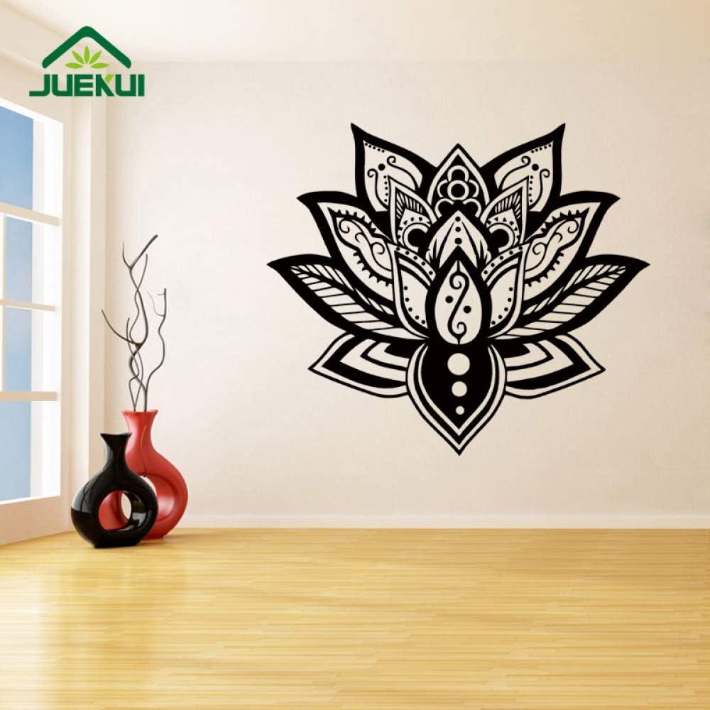 Lotus Mandala Home Art Decor Sala de Estar Pegatinas de Pared para el Dormitorio calcomanías de Vinilo murales decoración del Cartel Impermeable Rosa 99X86 cm: Amazon.es: Hogar
