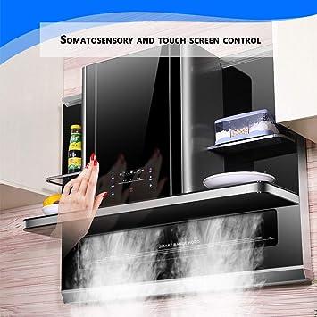 Campana Extractora De 90 Cm-hogar, Campana Reciclable, Armario, Campana Decorativa, Pantalla Táctil/Somatosensorial/Limpieza Automática: Amazon.es: Hogar