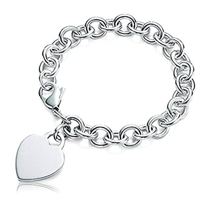 5da8d8253 PicturesOnGold.com Sterling Silver Engravable Bracelet - Sterling Silver -  7 Inch with Engraving