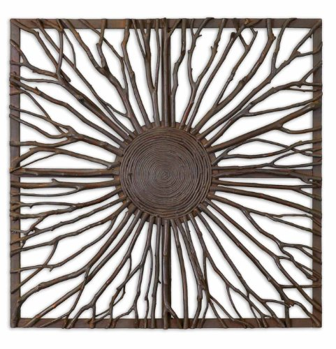 Natural Wood Josiah Square Wall Art by Uttermost