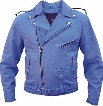 Denim Motorcycle Vests Black or Blue