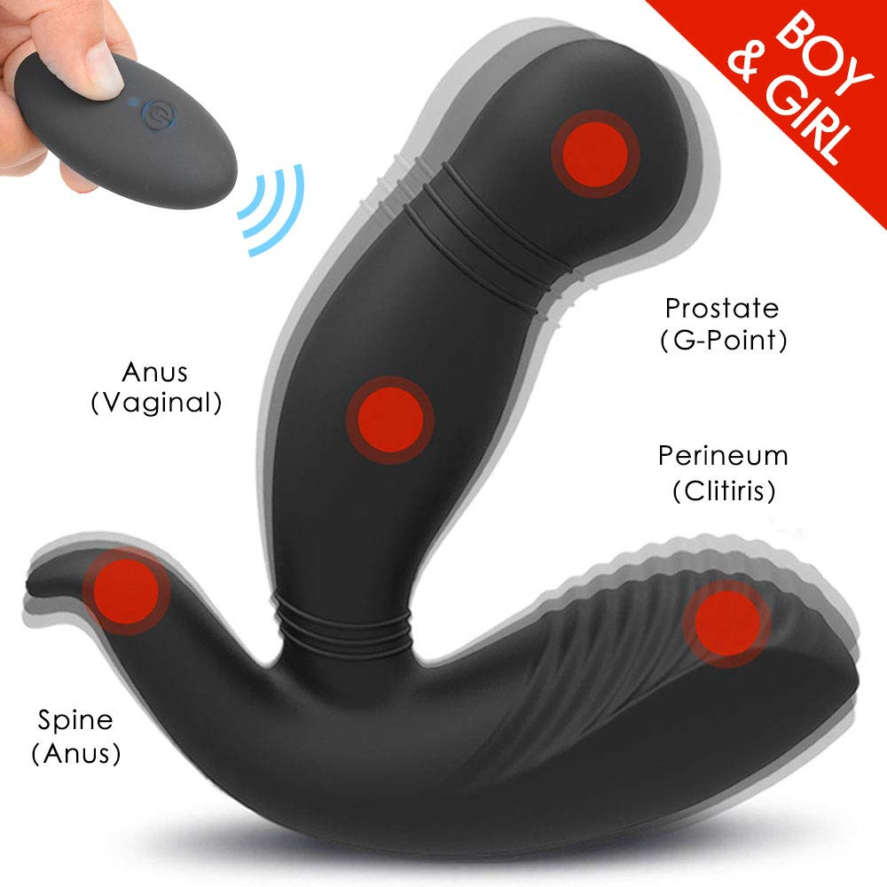 Prostate Massager Male Vibrating Feelingirl Anal Vibrator P-spot Sex Toy with Wireless Remote Control Butt Plug Gay Adult Toys for Men,G-spot Vibrator Anals Toys for Women and Couples,Waterproof