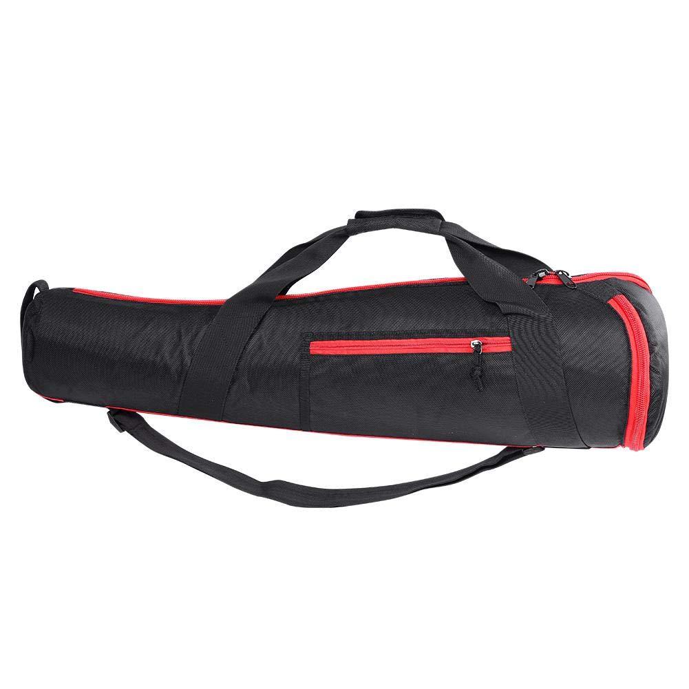fosa Outdoor Photography Monopod Bag for Manfrotto Monopod Nylon Lightweight Portable Two-Way Zipper Black Shoulder Strap Handbag DS-75