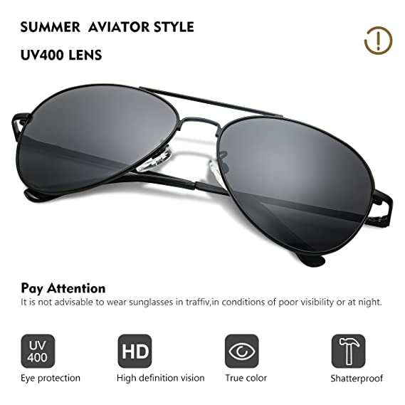 b08e24e059 Amazon.com  Duduma Premium Classic Aviator Sunglasses with Metal Frame Uv400  Protection  Sports   Outdoors